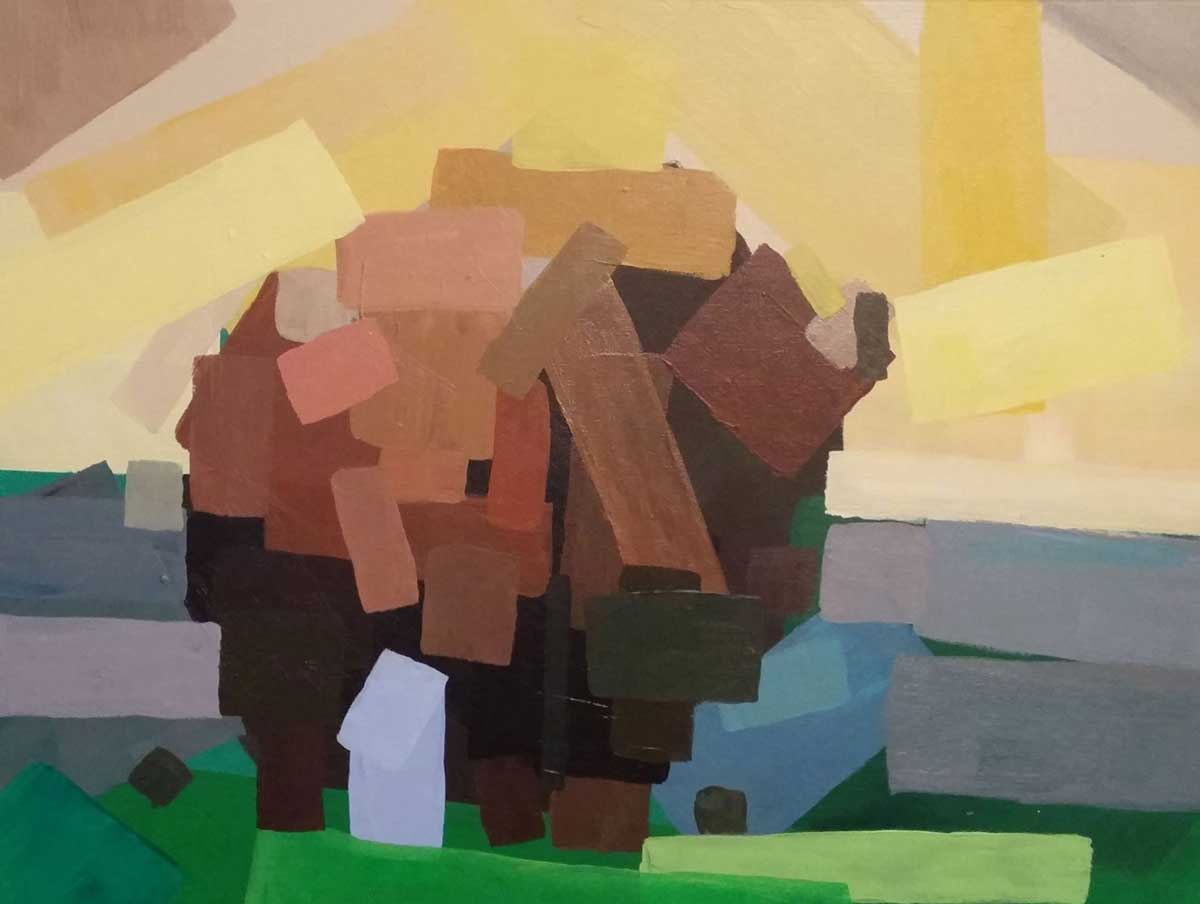 """First Bison"" - acrylic on canvas, September 2016"
