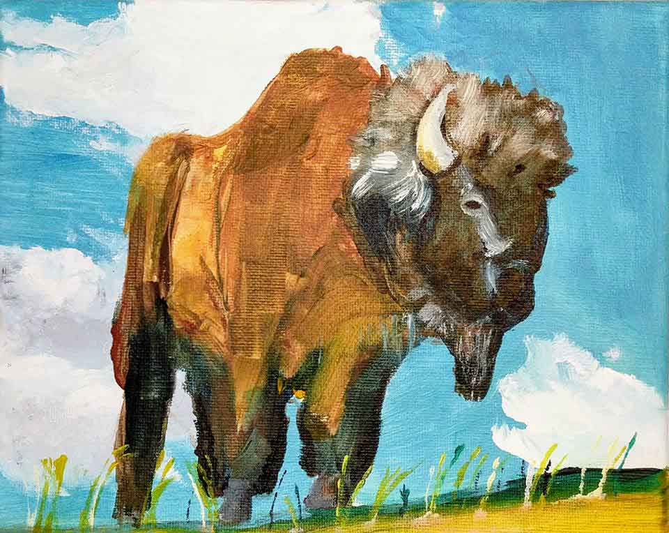 """Bison"" - acrylic on canvas, July 2017"