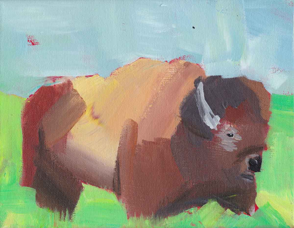 """Bison"" - acrylic on canvas, December 2017"