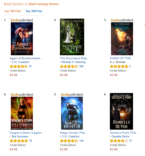 "Amazon's Best Sellers for ""dark fantasy horror"""